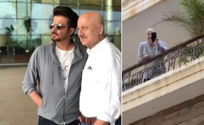 Anupam Kher And Anil Kapoors Video Calling Session