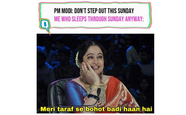 PM Modi - Do not Step Out on Sunday
