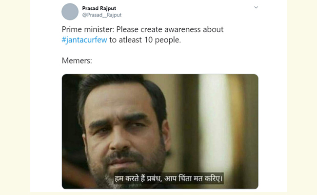 Prime Minister - Please Create Awareness About Jantacurfew