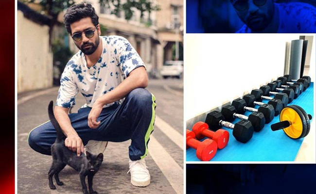 Vicky Kaushal Brings Gym Indoors