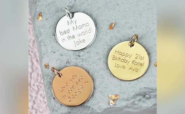 Personalised jewellery gift for women