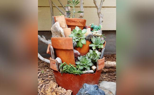 Upcycle Broken Pots
