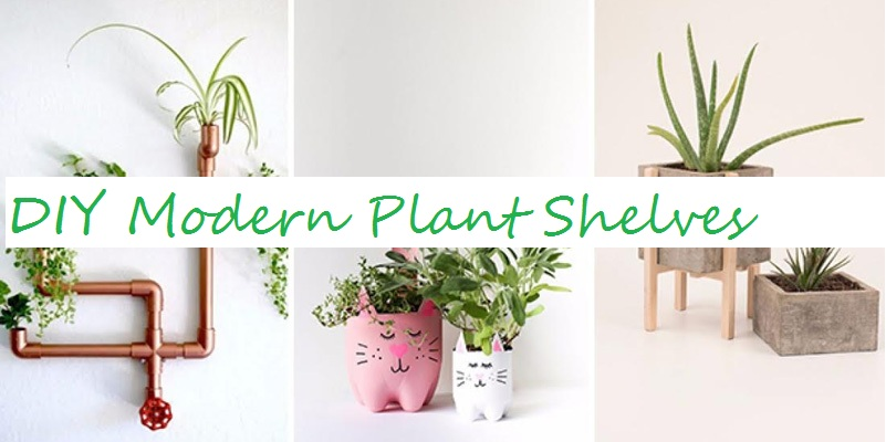 DIY Modern Plant Shelf