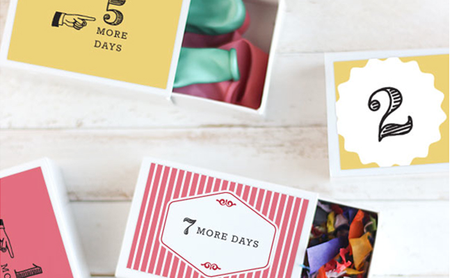 Birthday countdown Letters