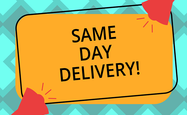 Same Day Delivery and Free Shipping