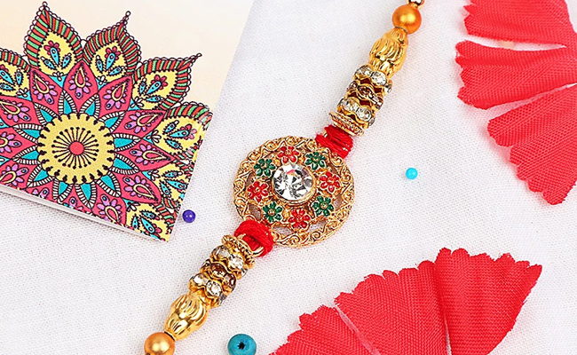 Blossomy Diamond Rakhi