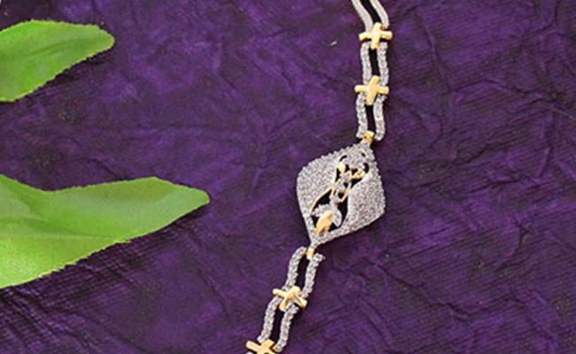 Dazzling Diamond Rakhi