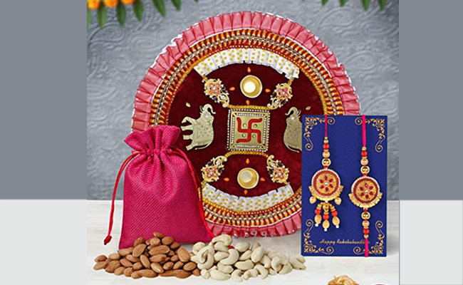 Designer Raksha Bandhan Thali For Bhaiya-Bhabhi