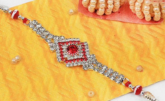 Eye-Catching Diamond Rakhi