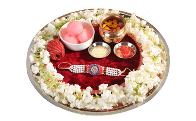 Floral Thali Decoration