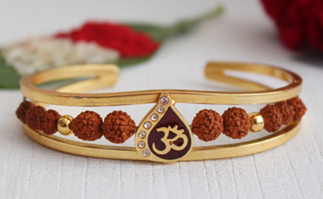 Gold-Plated Bracelet Rakhi