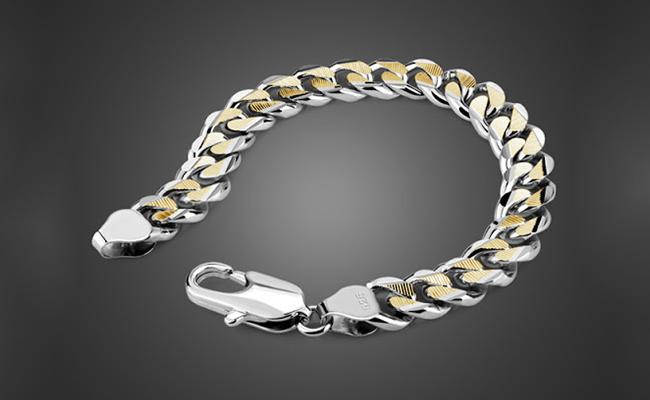 Gold-Silver Bracelet Rakhi