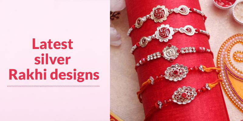 Latest Silver Rakhi Designs from FlowerAura
