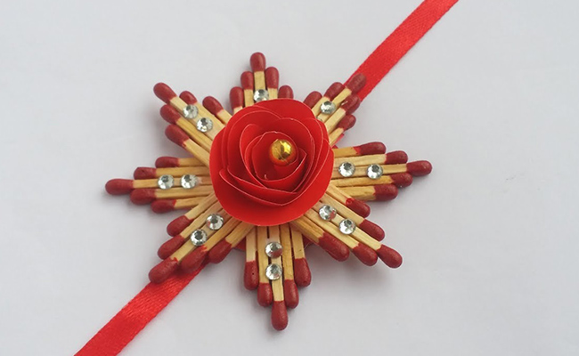 Matchstick Floral Rakhi