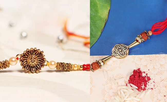 Metallic Rakhi