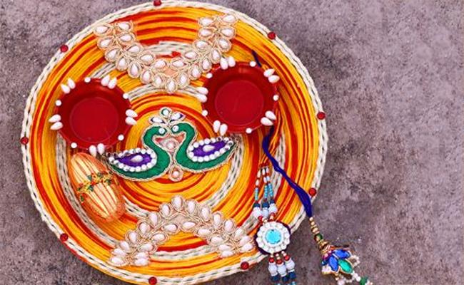Pearl Bhaiya Bhabhi Rakhi Thali