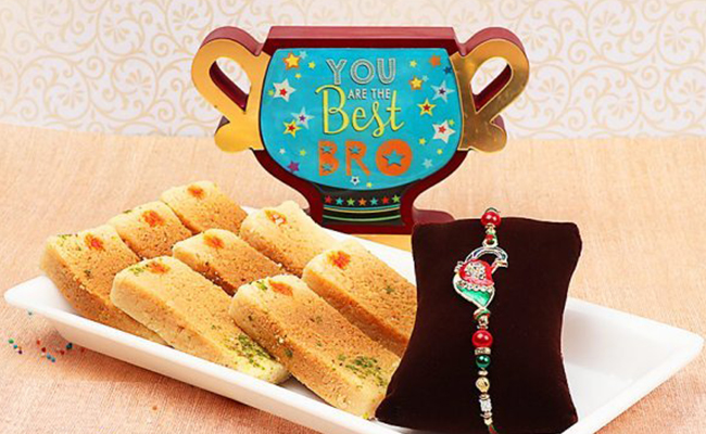 Rakhi with Milk Cake