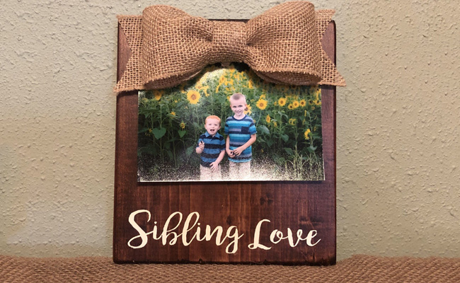 Wooden Raksha Bandhan Photo Frame