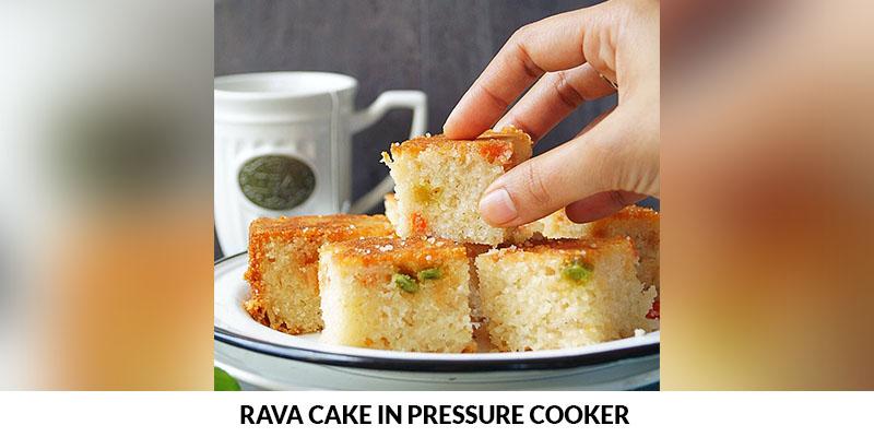 rava cake in pressure cooker