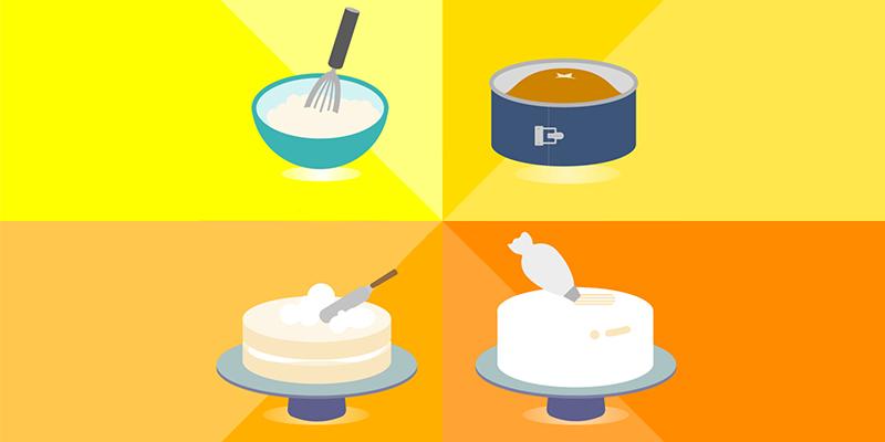 Reverse-Creaming Method of Cake