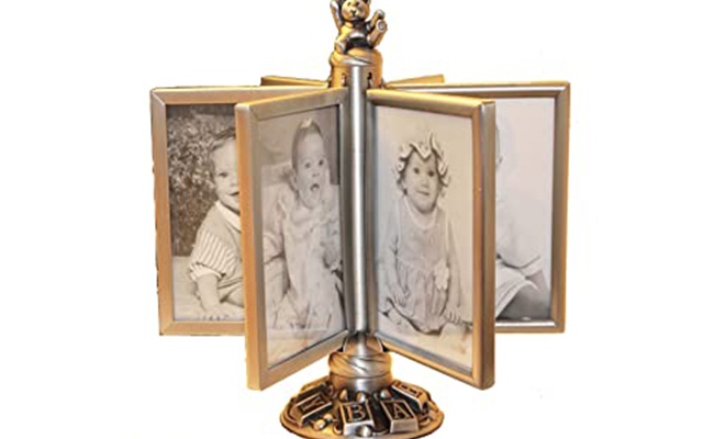 Gold Plated Rotating Photo Frame