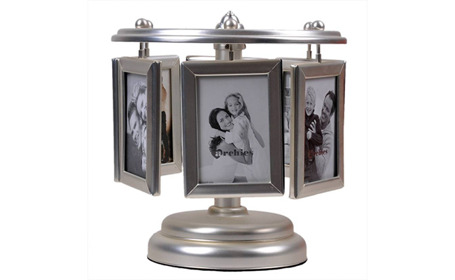 Silver Plated Rotating Photo Frame