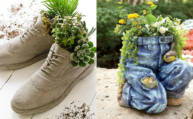 DIY shoe planter