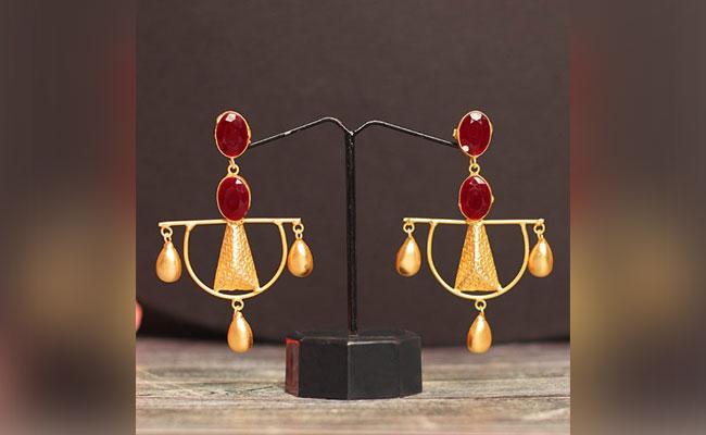 Gold Plated Designer Earrings