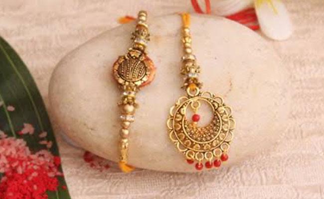Gold Bhaiya Bhabhi Rakhi
