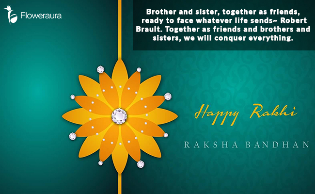 Raksha Bandhan Message - Brother and Sister Together as Friends