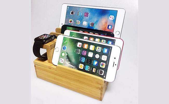 Wooden Tray For Mobile Phones