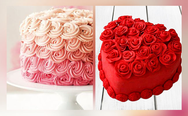 Red Roses cake decoration