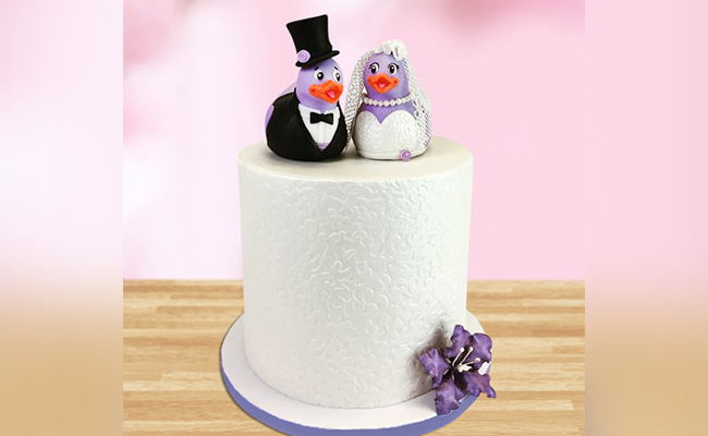 Penguin Wedding Anniversary Cake