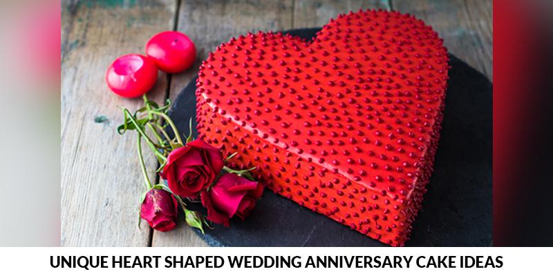 Heart Shaped Wedding Anniversary Cake