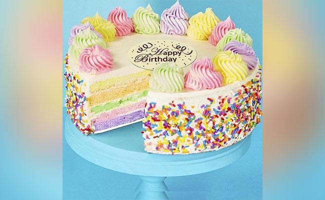 Seven Hues Rainbow Cake