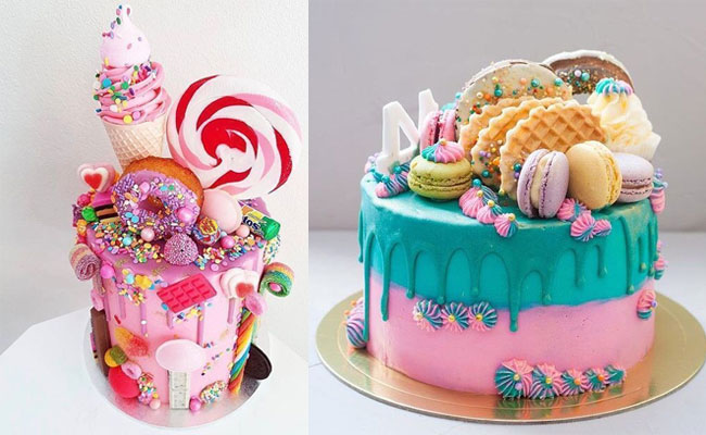 Macaroons And Candy Cake