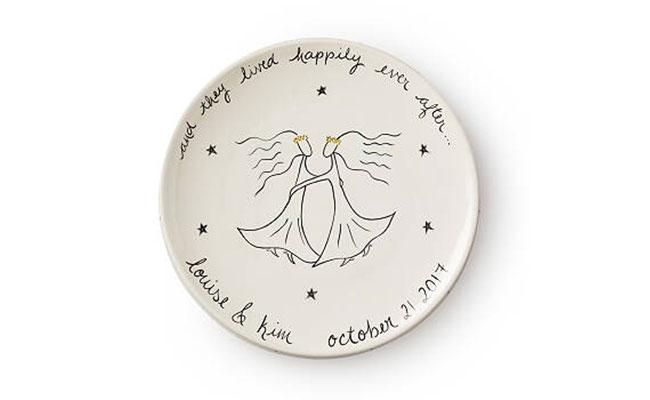 Personalised ceramic wall plate