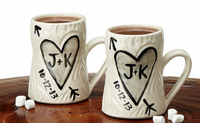 Personalised mug pair