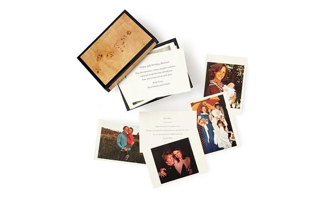 Personalised wedding memory gift box