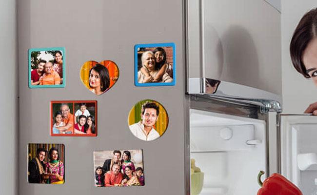 Personalised photo fridge magnets