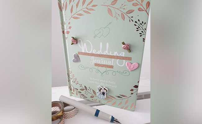 Personalised wedding journal