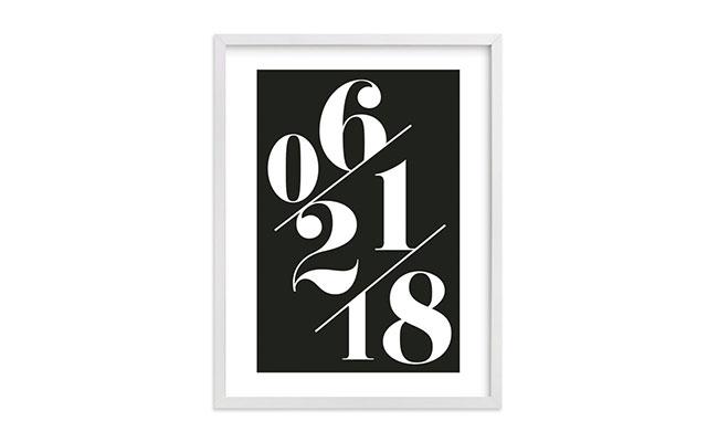 Wedding Date Wall Frame
