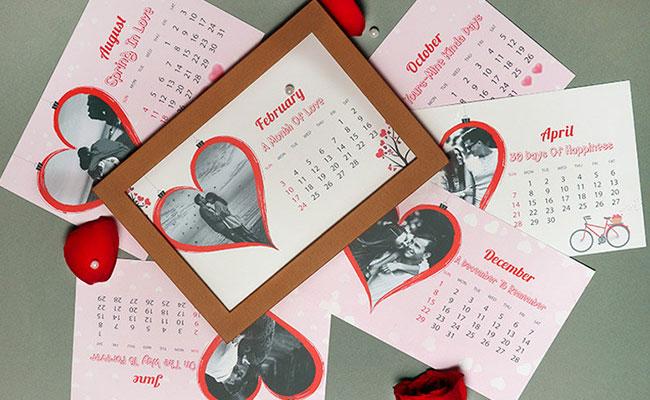 Sweet Love Memories Calendar