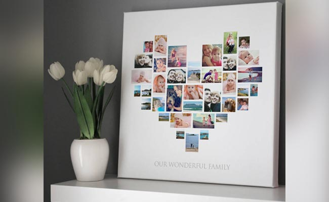 Heart Photo Collage Canvas