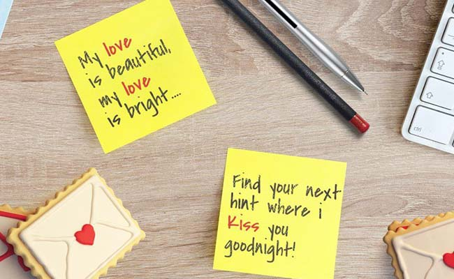 Leave Love Notes On Different Places