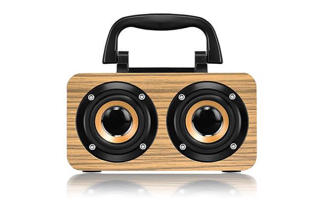 Wooden wireless boombox