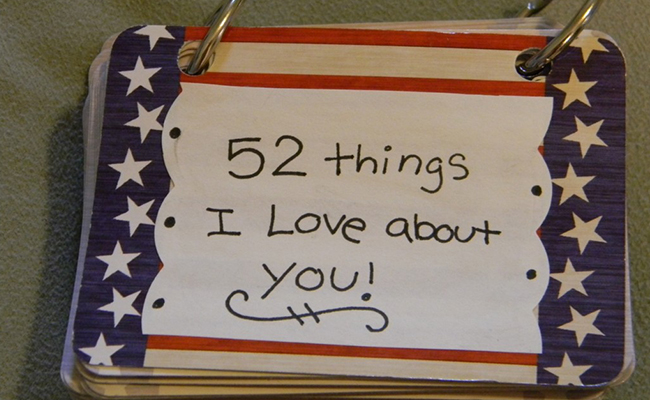 52 Things I Love About You Cards - A DIY Birthday Gift
