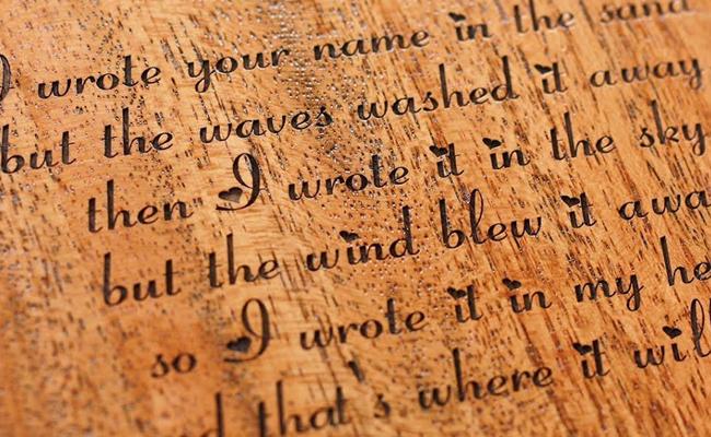 Wooden Love Letter
