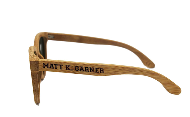 Engraved Wooden Sunglasses