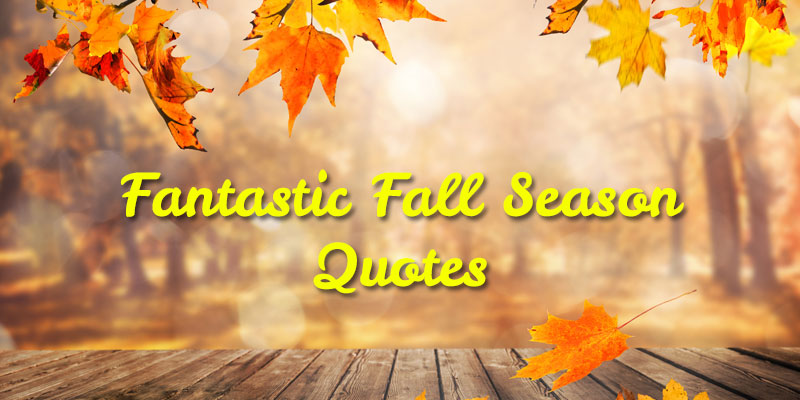 Fantastic Fall Season Quotes